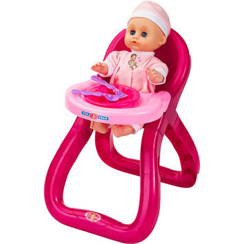 Badger Basket Modern Doll Feeding Chair with Doll and Accessories Play Set