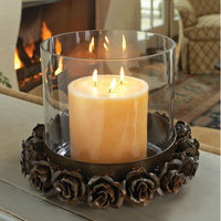 Napa Home and Garden 6346R Betty Sewell Vin Rose 10 In. Hurricane