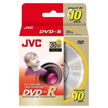 JVC Mini DVD-R Media - 1.4GB - 80mm Mini - 10 Pack Spindle