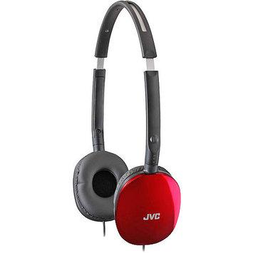 JVC Red FLATS Lightweight Folding Headphones - HAS160R