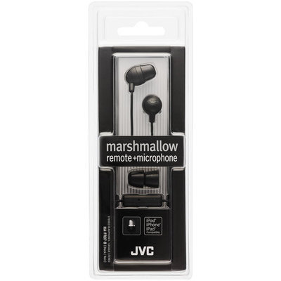Jvc Hafr37b Marshmallow Inner Ear With Microphone & Remote [black]
