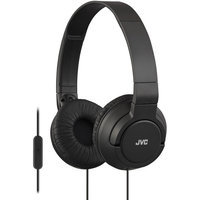 JVC HA-SR185 Lightweight Foldable Headphones with Remote (Black)