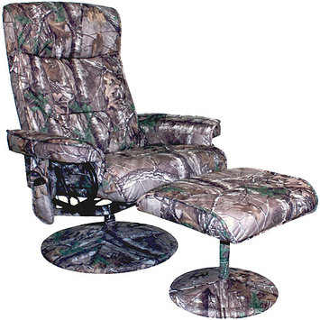 Comfort Products Realtree Relaxzen Heated and Reclining Massage Chair with Ottoman