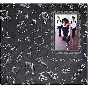 Mbi Chalkboard Post Bound Scrapbook W/Window 12X12