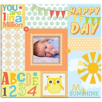 Mbi Baby Circles Post Bound Scrapbook W/Window 12X12