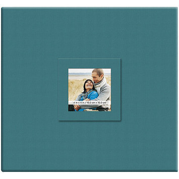 Mbi Earthtone Post Bound Scrapbook W/Window 12X12-Blueberry