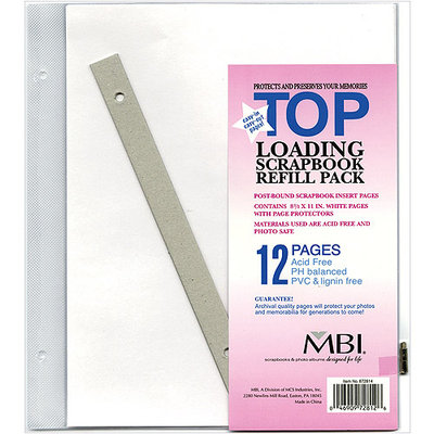 MBI Refill Pages 8.5x11 Scrapbook, Post Bound 6 Topload Sheets #872814