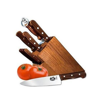 Victorinox 11pc Knife Set w/ Block, Rosewood Handles