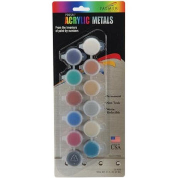 Palmer Prism Acrylics, 12-pot Metals Set