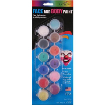 Palmer Face Paint Pots, Face Paint Pots, Set of 12