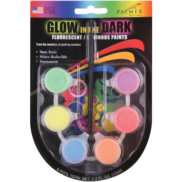 Palmer 133645 Poster Paint Mini PotsFluorescent Glow In The Dark