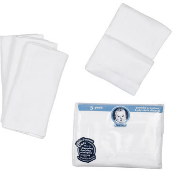 Gerber Gauze 5-Pack Prefolded Cotton Diapers