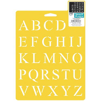 Delta 366096 Stencil Mania Stencil 7 in. x 10 in. -Times Alphabet