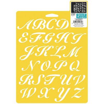 Delta 366097 Stencil Mania Stencil 7 in. x 10 in. -Script Alphabet