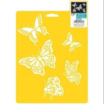 Delta 296725 Stencil Mania Stencil 7 in. x 10 in. -Butterflies