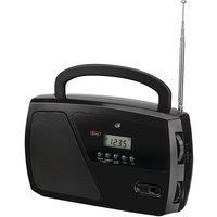 GPX AM/FM Portable Shortwave Radio with Digital Clock