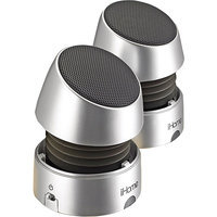Ihome Ihm79Sc Rechargeable Mini Stereo Speakers Silver