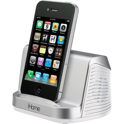 iHome iHM16 2.0 Speaker System - Silver - iPod Supported