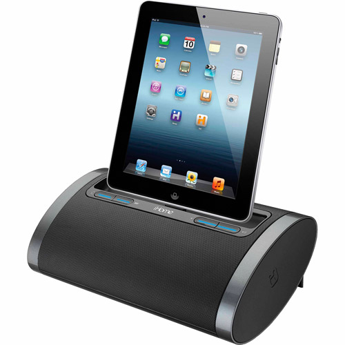 iHome iDL48 Dual-Charging Portable Rechargeable Speaker with Lightning Dock