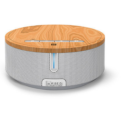 iHome NCF Stereo Speaker with USB charging - Brown/White (iBN26WC)