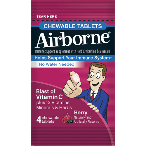 Airborne Chewable Tablets with a Blast of Vitamin C