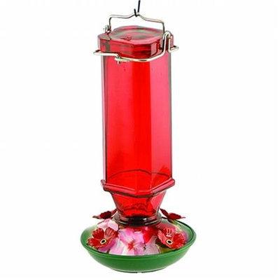 Audubon/Woodlink Glass Humminbird Feeder 16 Ounce Red NA35241