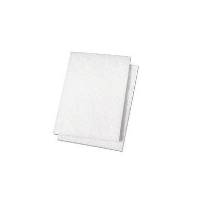 Premiere Pads Light Duty Scour Pad, White, 6 x 9, 20/Carton