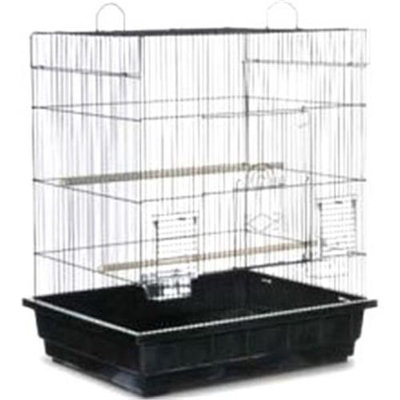 Prevue Pet Products 067341 Square Roof Parakeet-Cockatiel Cage Pack Of 2