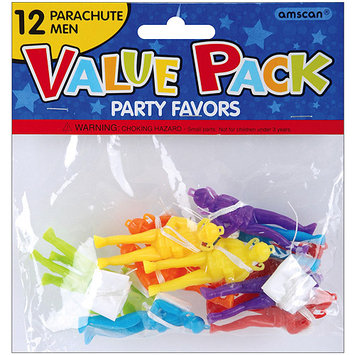 Amscan 390201 Party Favors 12/Pkg Parachute Men