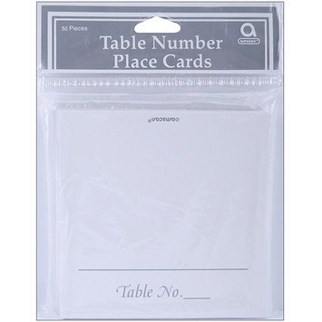 Amscan WEDPC-63016 Placecards 3.5X1.75 50/Pkg