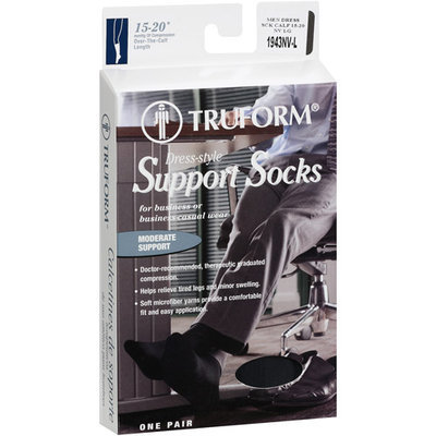 Truform Men's Navy Support Socks, Large, 1ct