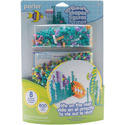 Perler 80-56014 Perler Fun Fusion Fuse Bead Activity Kit-Life On The Reef