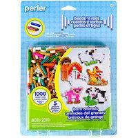 Perler 80-62967 Perler Fun Fusion Fuse Bead Activity Kit-Barn Animals