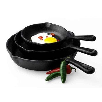 Basic Essentials 3pc Fry Pan Set Black Multi