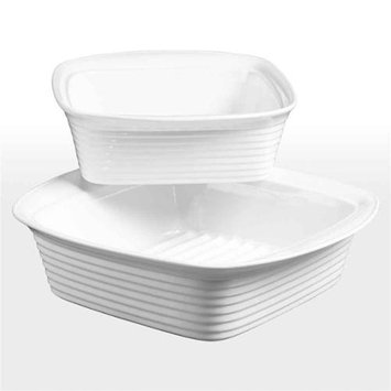 Denmark 2-pc. Porcelain Square Baking Dish Set