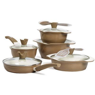 Anna Boiardi 12-pc. Nonstick Cast-Aluminum Cookware Set
