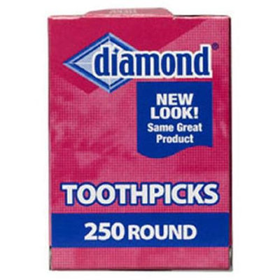 Diamond Crystal 250 Ct Round Toothpicks 41853 by Jarden