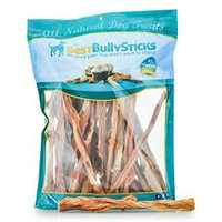 Best Bully Sticks 12 Inch Bladder Bully Sticks / 25 Pack