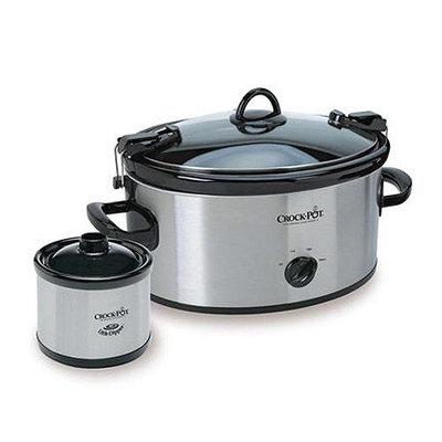 Crock-Pot SCCPVL659-SS Cook & Carry Slow Cooker w Little Dipper Stainless Steel