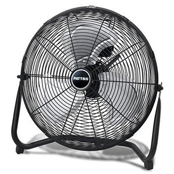 Jarden Patton Puf1810b-bm 18 High Velocity Fan - 18 Diameter - 3 Speed - Durable Adjustable Tilt Head Carrying Handle - 20.5 Width - Metal Grille (puf1810b-bm)