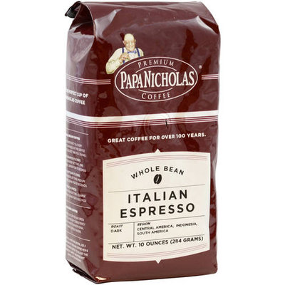 PapaNicholas Coffee Italian Espresso Whole Bean Coffee, 10 oz