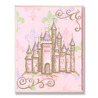 Stupell Industries BRP-959 Pink Castle Rec Wall Plaque