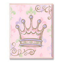 Stupell Industries BRP-960 Pink Crown Rec Wall Plaque
