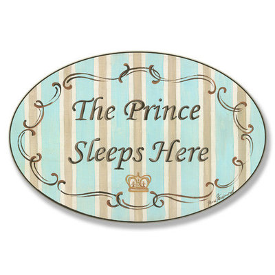 The Prince Sleeps Here Wall Plaque