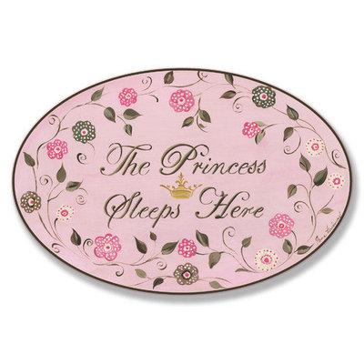 Little Princess Oval Wall Plaque