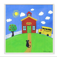 The Kids Room School House Square Wall Plaque