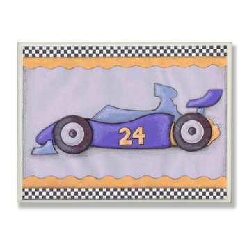 The Kids Room Oversized #24 Race Car Wall Plaque - Blue