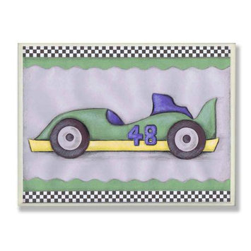 The Kids Room Oversized #48 Race Car Wall Plaque - Green