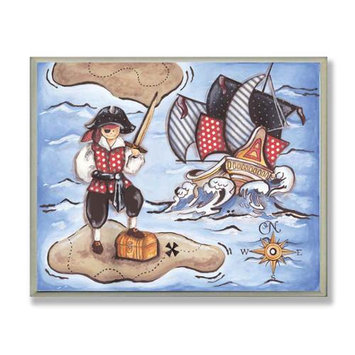 The Kids Room Wall Plaque - Pirate on Island