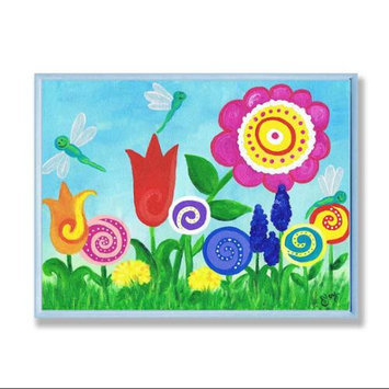 The Kids Room Flowers Wall Plaque - Contemporary